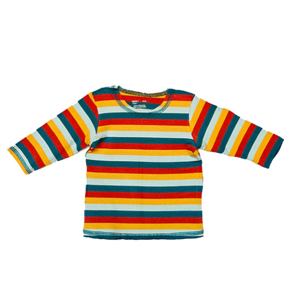 Tee shirt manga longa stripes multicolorida