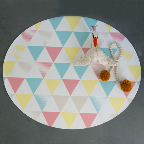 Tapete Playmat Triangulos Oval